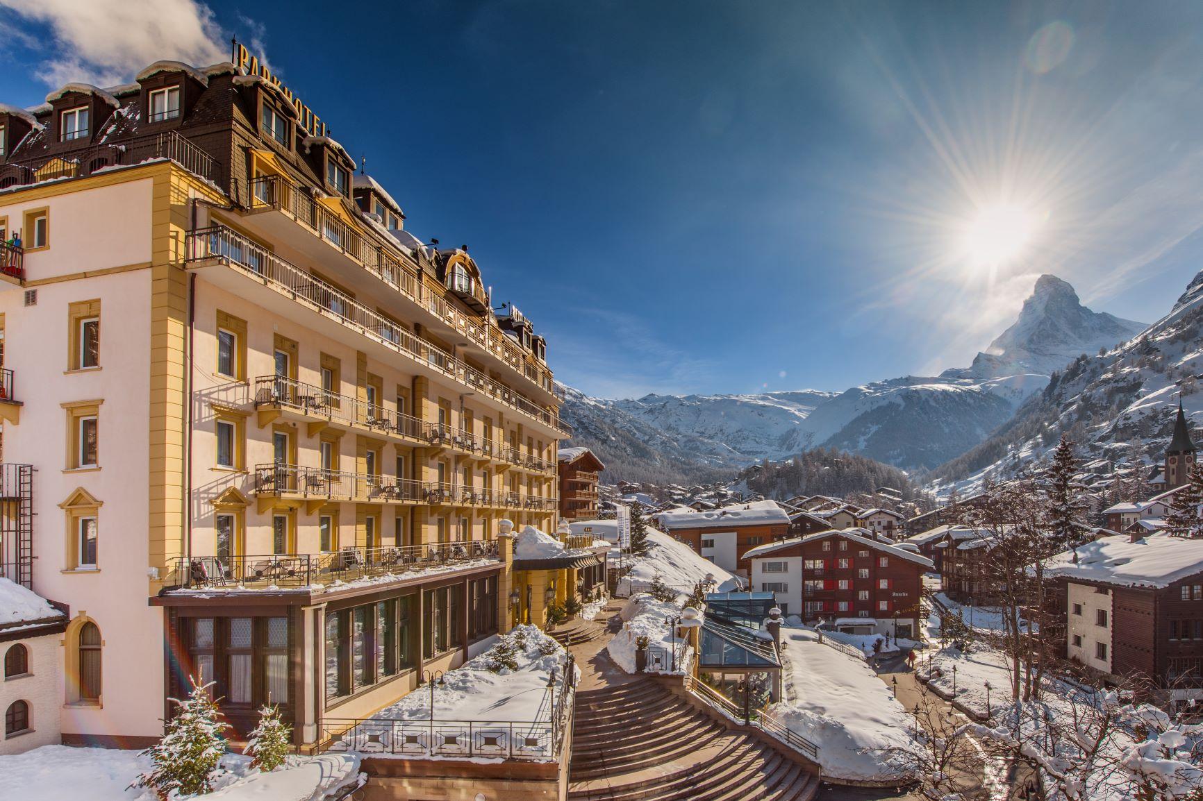Parkhotel Beau Site Zermatt mit Sicht zum Matterhorn